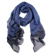 D Lux - Delta Pure Wool Cobalt Scarf