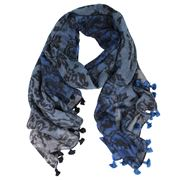 DLUX - Belle Pure Wool Blue Wrap