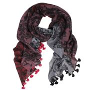 D Lux - Belle Pure Wool Claret Wrap