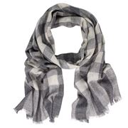 D Lux - Dexter Wool/Cashmere Charcoal Print Scarf