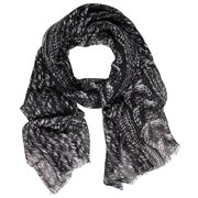D Lux - Kelly Pure Wool Black Knit Scarf