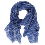 D Lux - Kelly Pure Wool Blue Knit Scarf