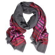 DLUX - Alpha Horizontal Stripe Scarf Red