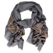 D Lux - Alpha Horizontal Stripe Scarf Tan