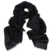 DLUX - Phantom Wool/Silk/Lurex Wrap Black