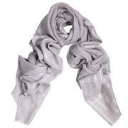 DLUX - Phantom Wool and Silk Silver Wrap