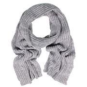 DLUX - Rib Knit Cotton Grey Scarf