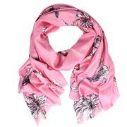 DLUX - Venus Silk Coral Print Wrap