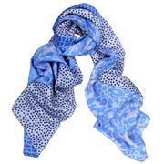 D Lux - Mara Silk Blue Print Wrap