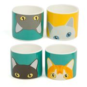 Burgon & Ball - Cat Egg Cups - 4 Piece Set