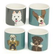 Burgon & Ball - Dog Egg Cups- 4 Piece Set