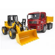 Bruder - MAN TGA Construction Truck w/ Road Loader