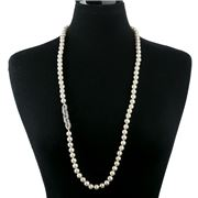Bowerhaus - Pearl Silver Long Necklace