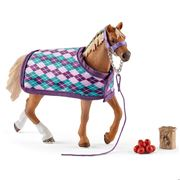 Schleich - English Thoroughbred With Blanket