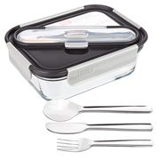 Built NY - Gourmet Glass Lunch Bento w/SS Utensils 887ml