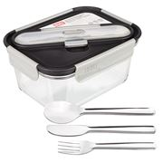 Built NY - Gourmet Glass Lunch Bento w/SS Utensils 1.33L
