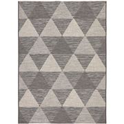 Tapete Rug - Blk & Nat Triangles In/Outdoor Rug 330x240cm