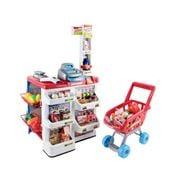 Kids Play - 24 Piece Kids Super Market Toy Set Red & White