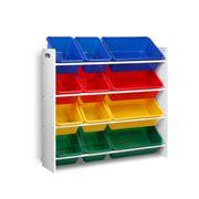 Kids Play - 12 Plastic Bins Kids Toy Organiser