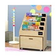 Kids Play - Kids Natural Wood Bookshelf Storage Organiser