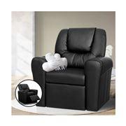 Kids Play - Kids Recliner Chair Black PU Leather Sofa