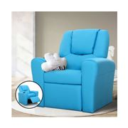 Kids Play - Kids Recliner Chair Blue PU Leather Sofa