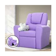 Kids Play - Kids Recliner Chair Purple PU Leather Sofa