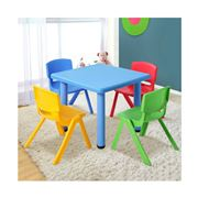 Kids Play - 5 Piece Kids Table and Chair Set Blue
