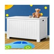 Kids Play - Kids Wooden Toy Chest Storage Blanket Box White
