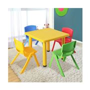 Kids Play - Kids Activity Study Desk Yellow Table Set 4pc