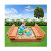 Kids Play - Wooden Outdoor Sandpit Set Natural Wood