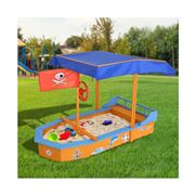 Kids Play - Boat-shaped Canopy Sand Pit