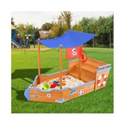 Kids Play - Boat Sand Pit With Canopy
