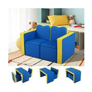 Kids Play - Kids Armchair Children Table Chair PU Blue