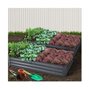 Enchanted Garden - Garden Bed Steel Raised Planter 2pc