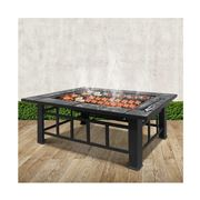 Fotya - Outdoor Fire Pit BBQ Table Grill Fireplace