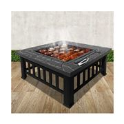 Fotya - Outdoor Fire Pit BBQ Table Grill Stone