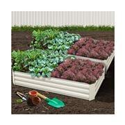 Enchanted Garden - Garden Bed Steel Raised Planter Cream 2pc