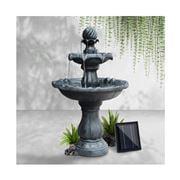 Enchanted Garden - Gardeon 3 Tier Solar water Fountain Black