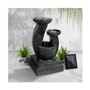 Enchanted Garden - Gardeon 3 Tier Solar Water Fountain Blue
