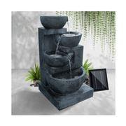 Enchanted Garden - Gardeon 4 Tier Solar Water Fountain Blue