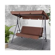 Enchanted Garden - Gardeon Outdoor Canopy Swing Chair Coffee