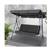 Fotya - Outdoor Swing Chair Hammock 3 Seater Black