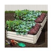Enchanted Garden - Raised Garden Bed Set of 2 120x90cm Cream