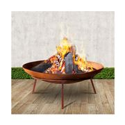 Fotya - Rustic Fire Pit Charcoal Iron Outdoor 60cm