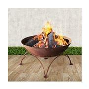 Fotya - Rustic Fire Pit Portable Charcoal Iron Bowl