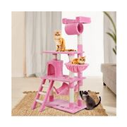 Pawfection - Cat Tree Tower Condo House Wood 141cm