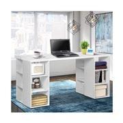 Home Office Design - 3 Level Bookshelf White
