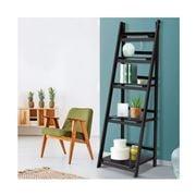 Home Office Design - 5 Tier Wooden Book Shelves Rack Coffee