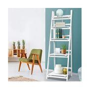 Home Office Design - 5 Tier Wooden Book Shelves Rack White